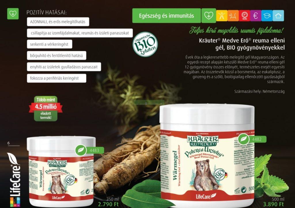 Kräuter Medve Erő reuma elleni gél